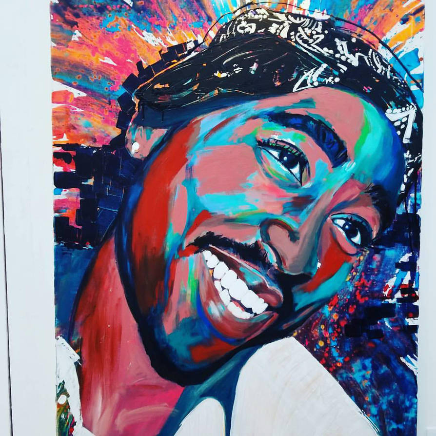 Tupac Art Collection In The Power Of A Smile By Ol By Olianaafanoart
