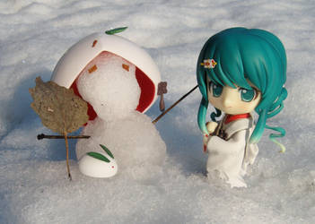 She even made a little snowman by Softijshamster