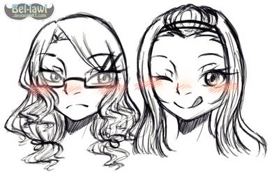 [Sketchdump?] Not-so-cousins Cousins//slapped by Bel-lawl