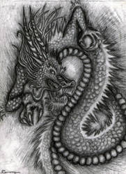 chines dragon by SyberDeath