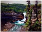 Sikanni falls by N8grafica