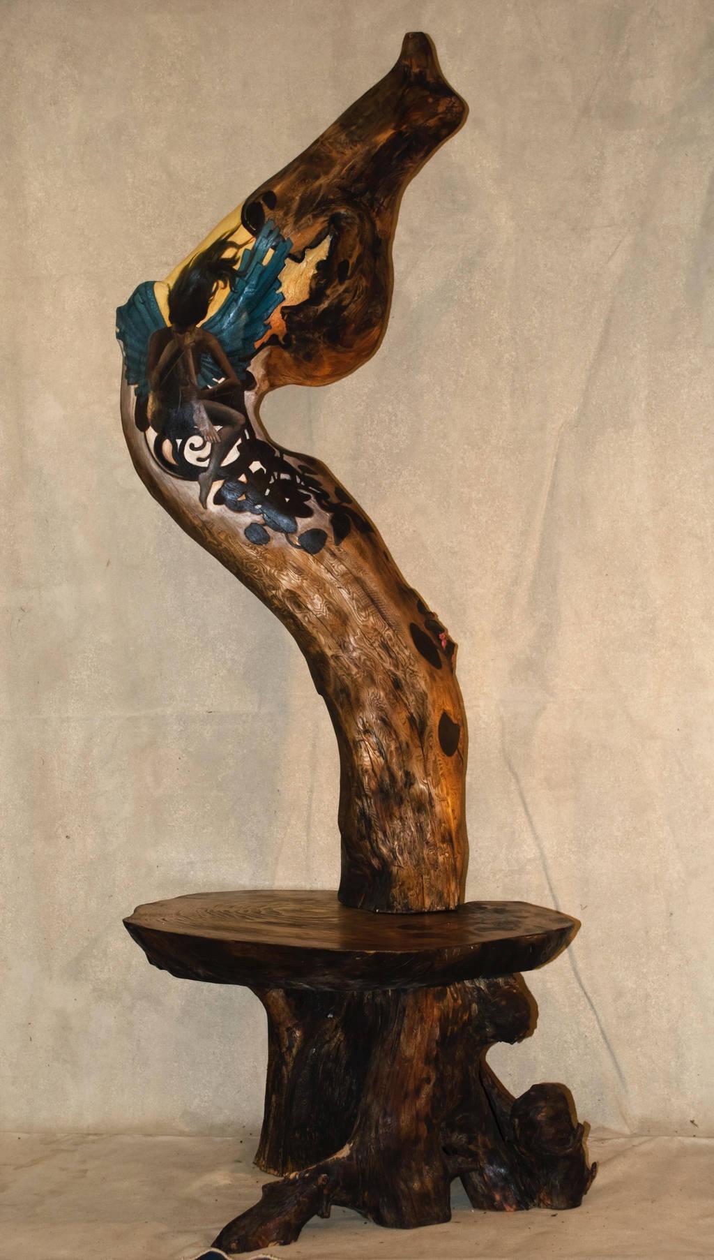 Wood spirit coffee table by N8grafica