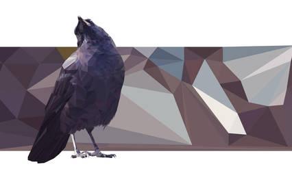 Low-Poly Crow by BronwynLeBlanc