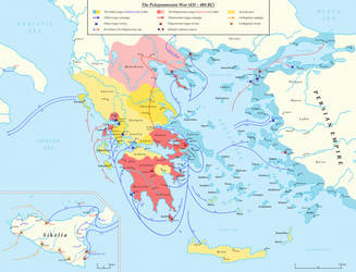 The Peloponnesian War (431 - 404 BC) by Undevicesimus