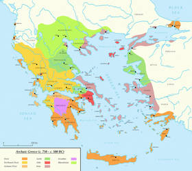 Archaic Greece (c. 750 - c. 500 BC) by Undevicesimus