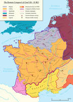 The Roman Conquest of Gaul (58 - 51 BC) by Undevicesimus