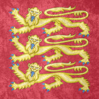 Kingdom of England ~ CoA Grunge Flag by Undevicesimus