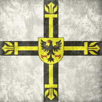 Teutonic Order ~ Grunge Flag (1230 - 1525) by Undevicesimus