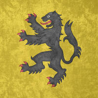 County of Flanders ~ Grunge Flag (1163 - 1795) by Undevicesimus