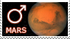 Mars stamp by Undevicesimus