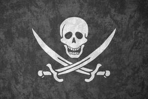 Pirate Jolly Roger ~ Grunge Flag by Undevicesimus