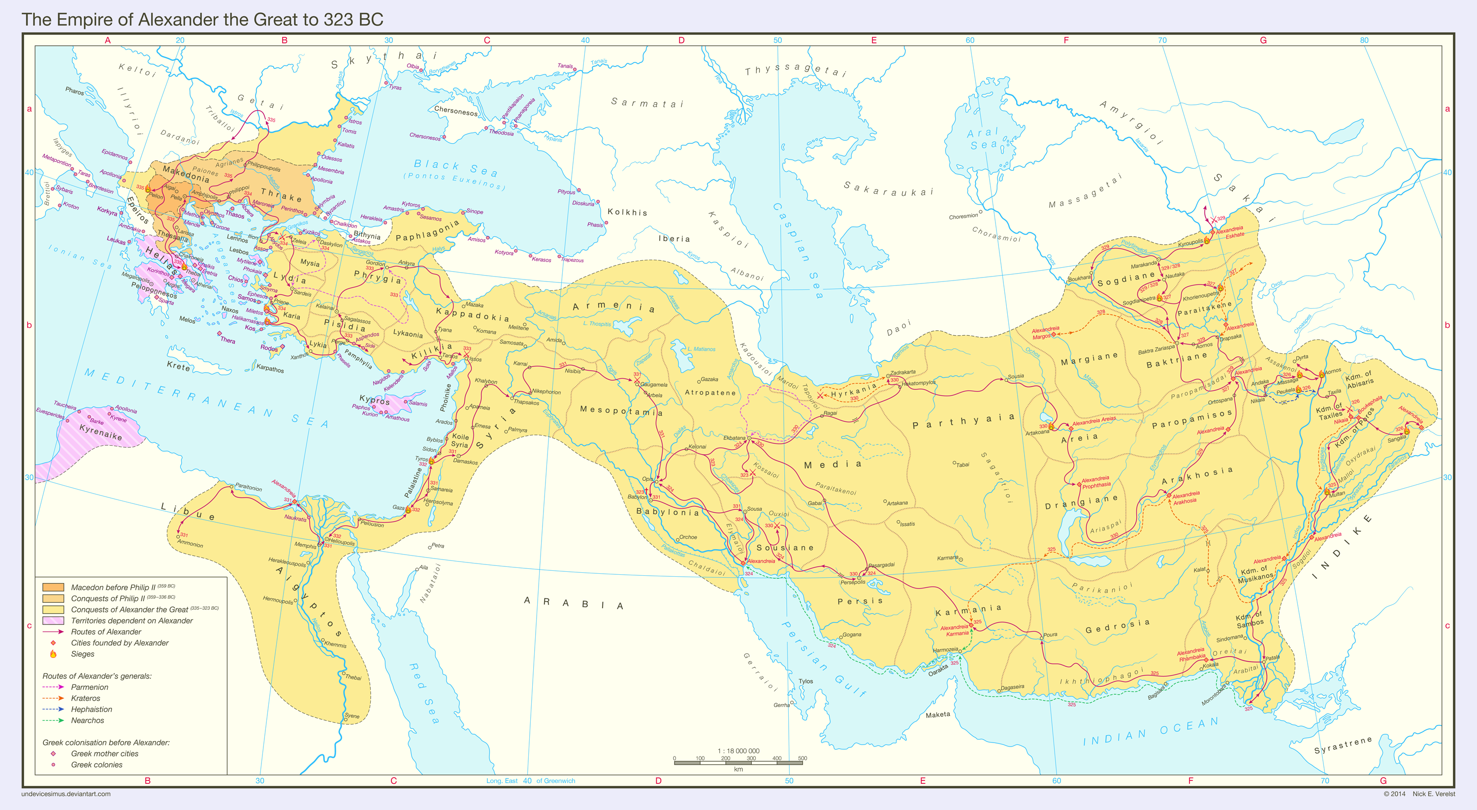 The Empire of Alexander the Great to 323 BC by Undevicesimus