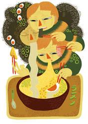 ramen noodle by 0marchhare0