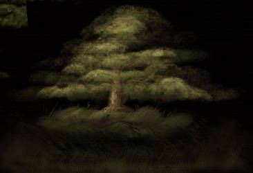 Bob Ross Tree Practice by G-man2000