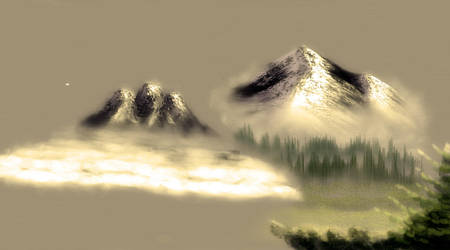 Bob Ross Mountain Practice by G-man2000