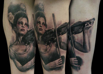 violin woman by bhbettie