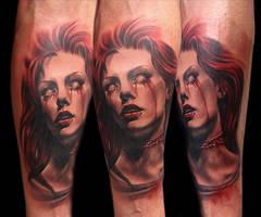 horror tattoo by bhbettie