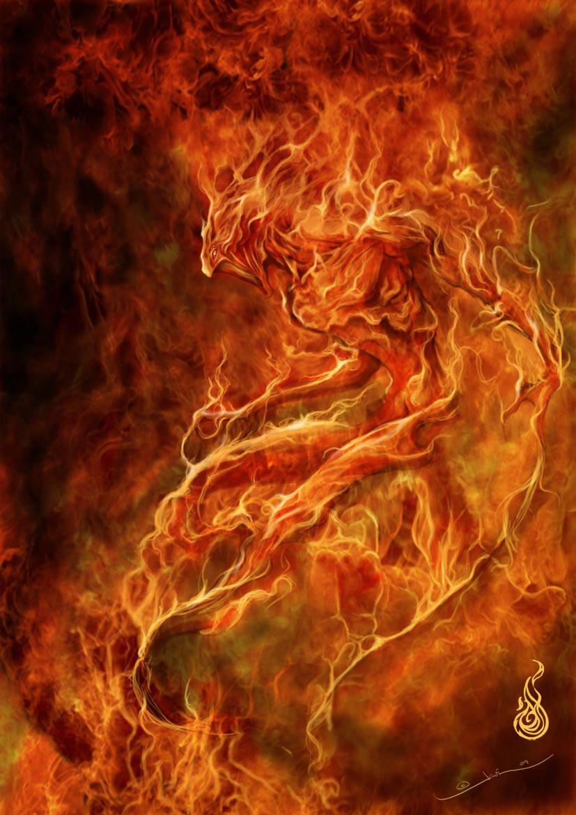 Fire elemental by javi-ure