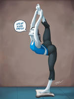 Wii Fit Trainer Pinup by bickpenart