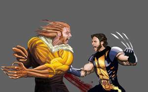 Wolverine and Sabretooth by devrimkunter