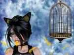 Bad Kitty XD by chenoasart