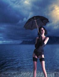 Stand Under My Umbrella by chenoasart