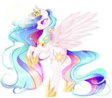Princess Celestia by Clefficia