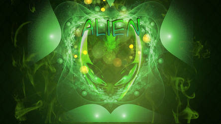 Wallpaper Alien Green by Ninjaman28xD