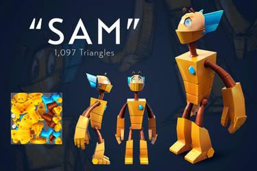Sam - 3D Render by UrnamBOT