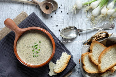 Mushroom cream-soup by MirageGourmand