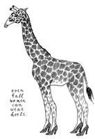 Tall Giraffe by Hanna-Pirita