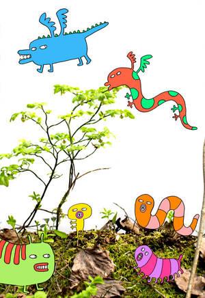 Weird creatures by Hanna-Pirita