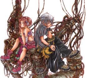Scrapmetal - Chanta and Ro by Hanesihiko