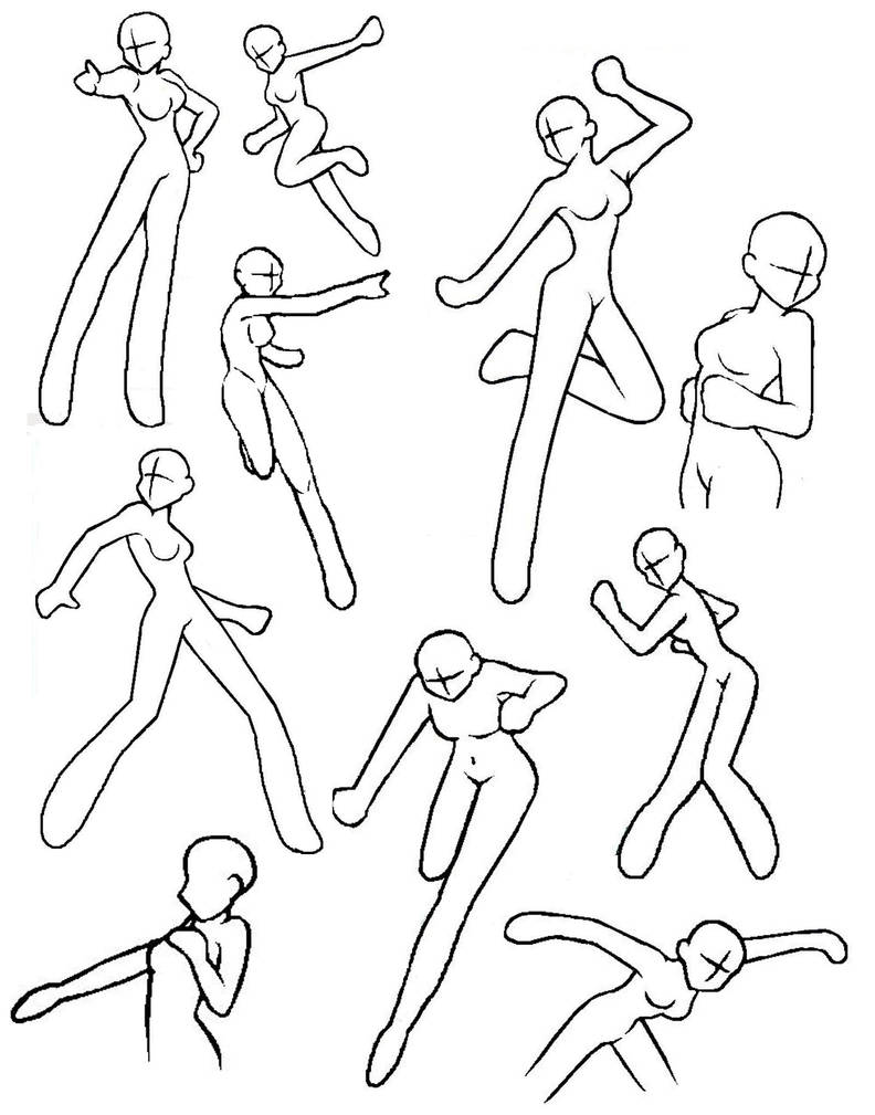 It's just a photo of Lucrative Anime Poses Drawing