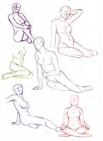 Female sitting poses by aliceazzo