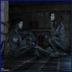 Alien Girls by xlef