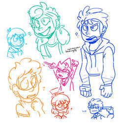 assorted camp camp doodles by dapperclapper