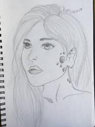 Dragon girl portrait by KyasBlack19