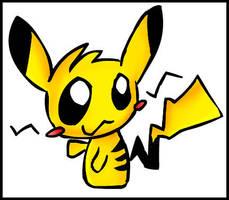 Chibi Pikachu by Characoal2000
