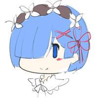 Chibi Rem - Sketch by AineRo