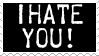I Hate You Stamp by sootyjared
