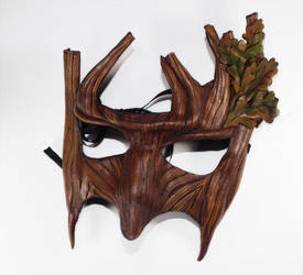 Greenman Handmade Mask by Shadows-Ink