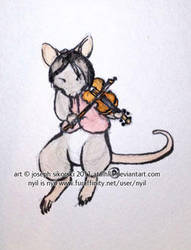 Nyil plays fiddle by Atalhlla