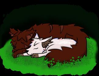 Sleeping wolves by StarLight-StarFish