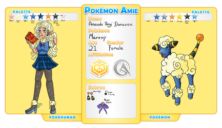 Pokemon-amie app: Amanda Donavon by StarLight-StarFish