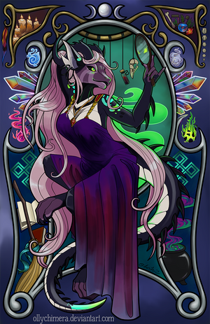 Commission: Art Nouveau Shiegra by OllyChimera