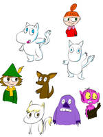 Moomin doodles  by xRibbon-Candyx