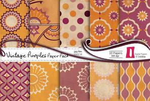 Vintage Purples Paper Pack by naga-pree