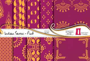 Indian Saree Paper Pack - Pink by naga-pree