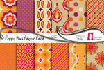 Poppy Hues Paper Pack by naga-pree